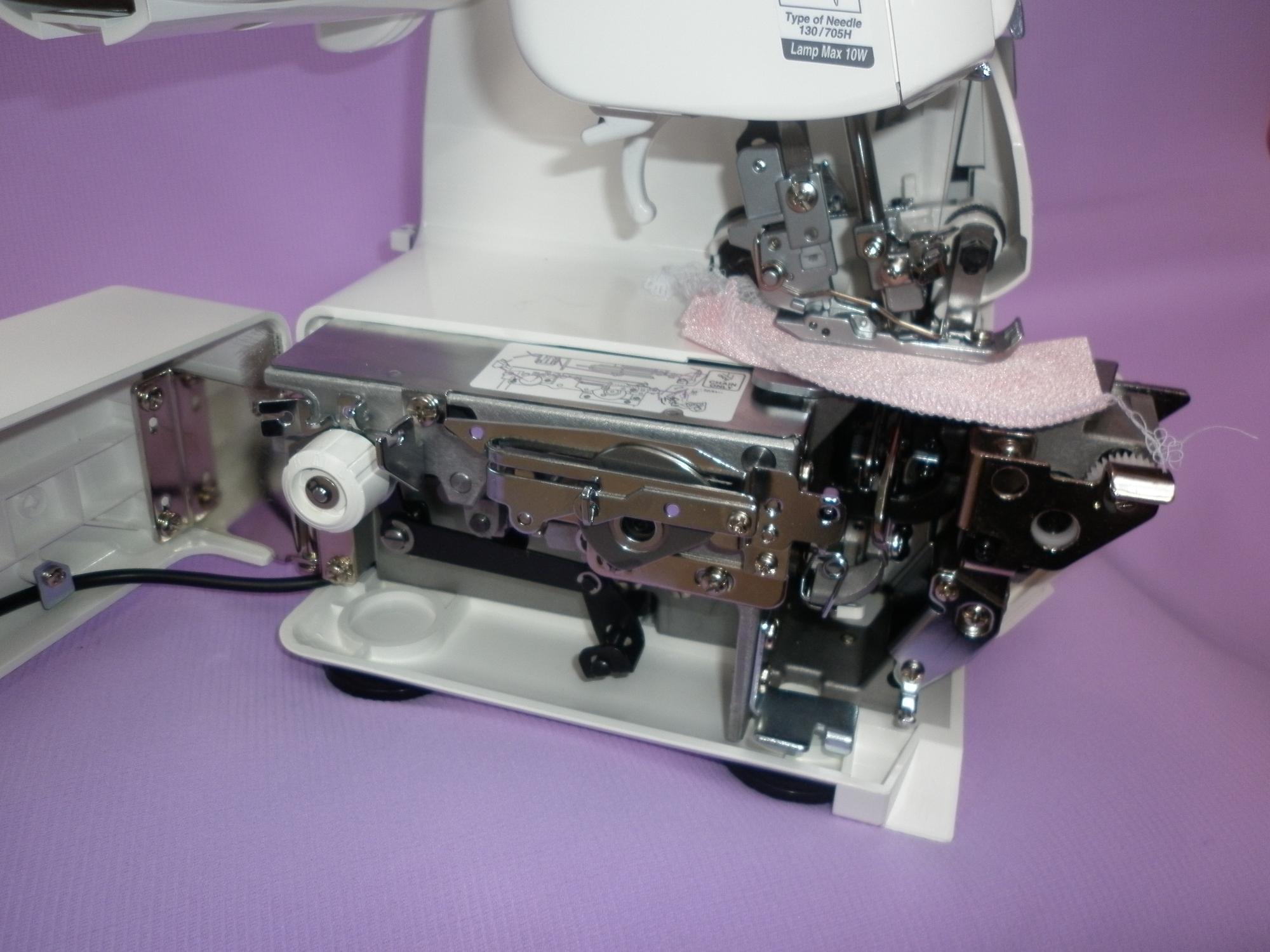 Коверлок JUKI MO 735 ( оверлок - плоскошовная распошивальная швейная машина ), пятиниточный оверлок JUKI.